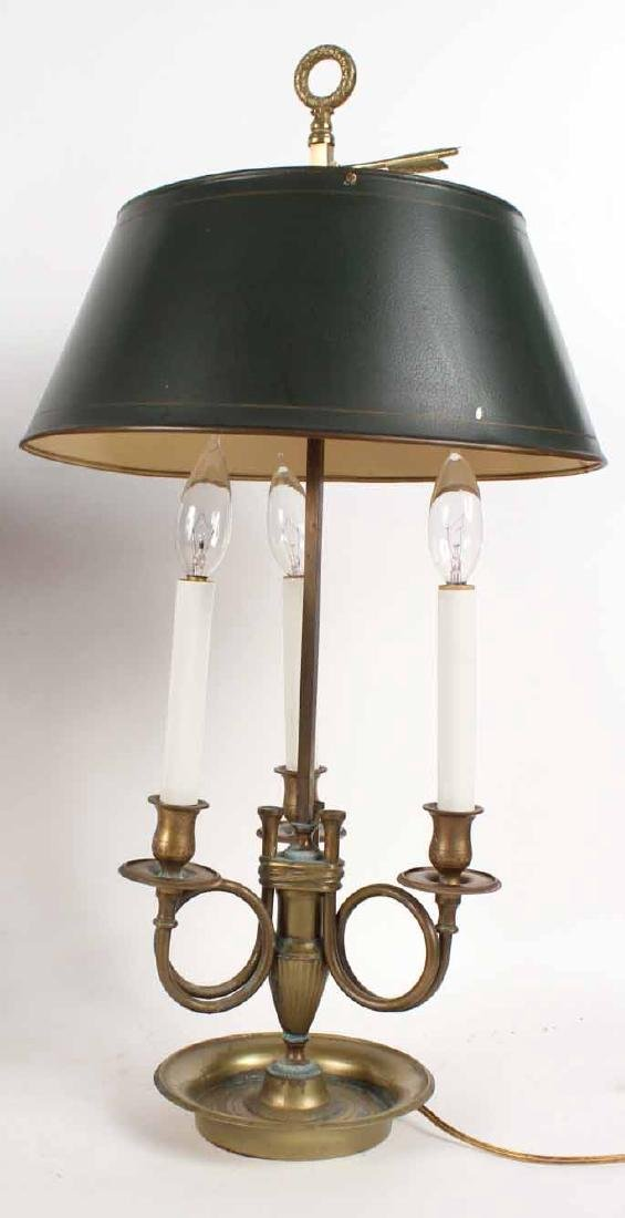 Two Brass Bouillotte Lamps - 2
