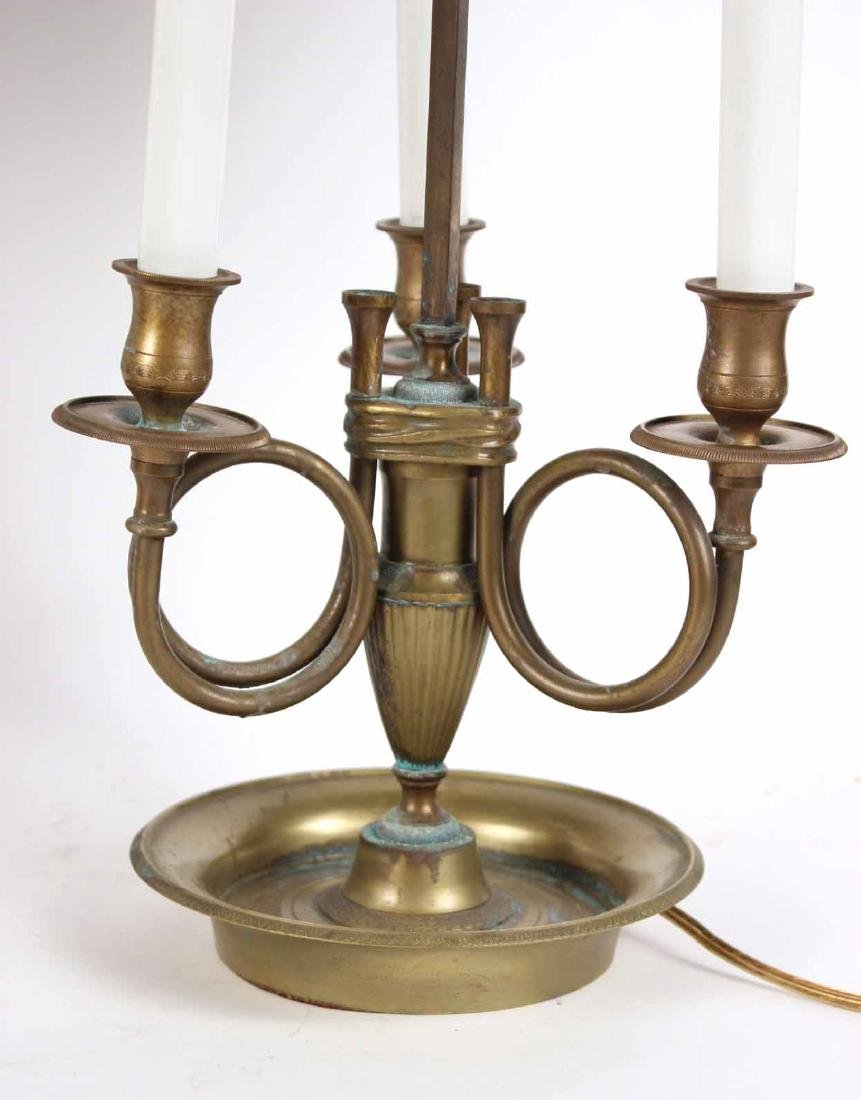 Two Brass Bouillotte Lamps - 3