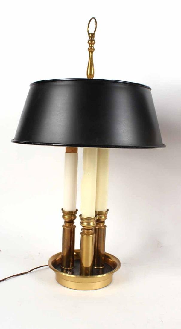 Two Brass Bouillotte Lamps - 4