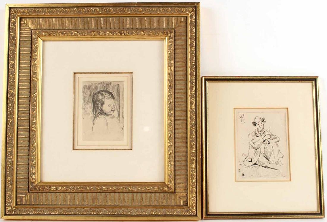 Two French Impressionistic Etchings