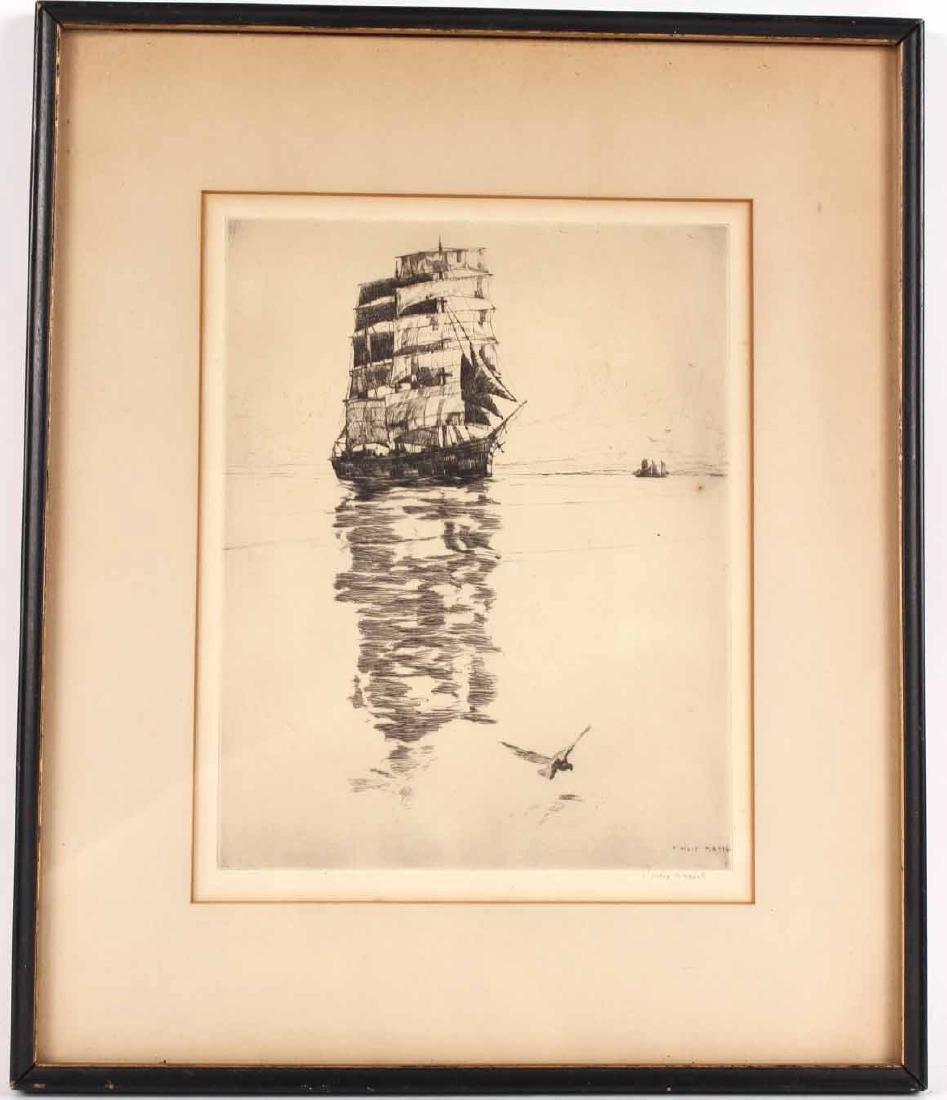 Etching, Ship, Philip Kappel