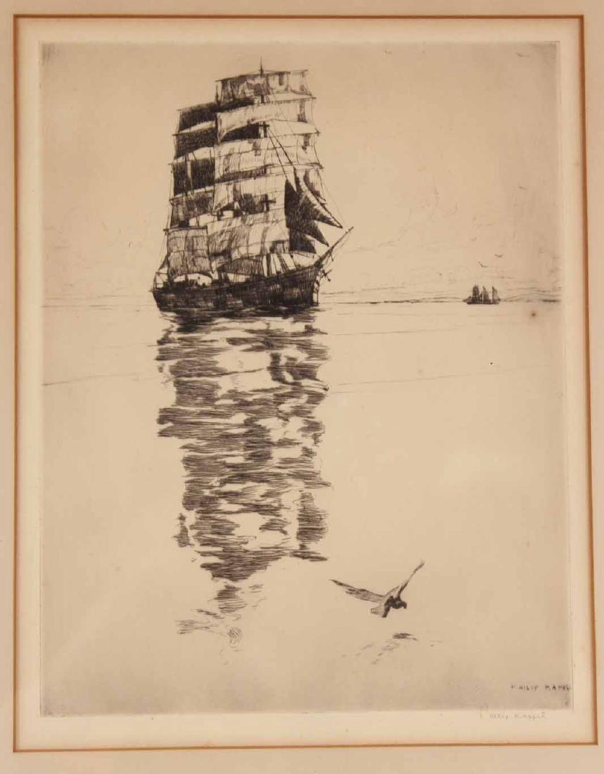 Etching, Ship, Philip Kappel - 2