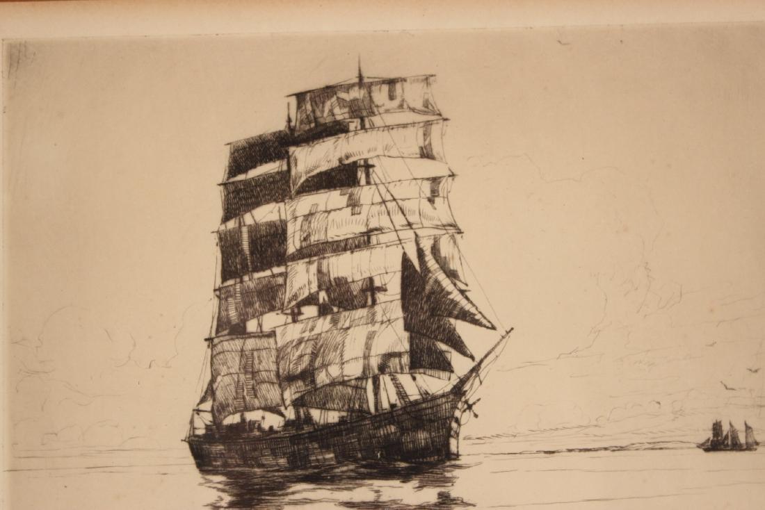 Etching, Ship, Philip Kappel - 4