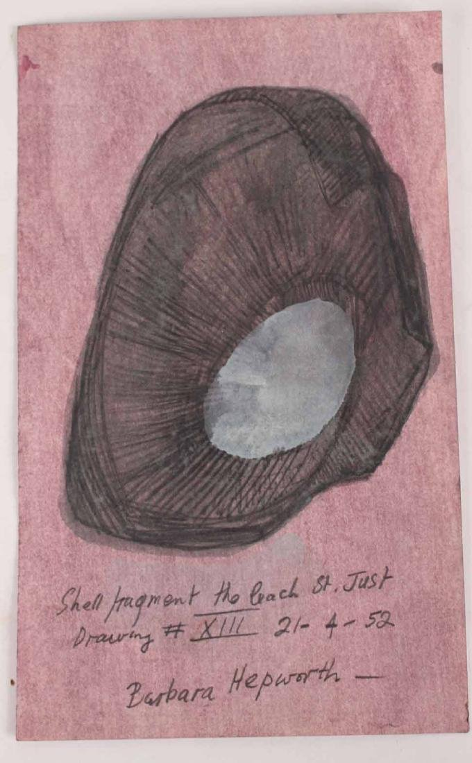 Two Mixed Media on Paper, Shell Fragments - 5