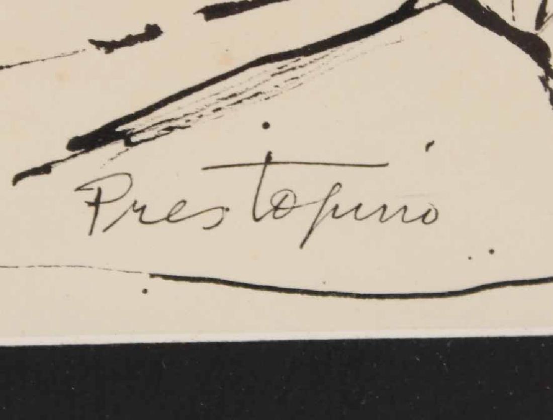 "Ink Drawing ""Potato Pickers,"" Gregorio Prestopino - 3"