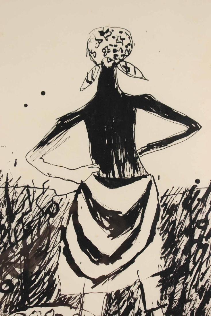 "Ink Drawing ""Potato Pickers,"" Gregorio Prestopino - 4"