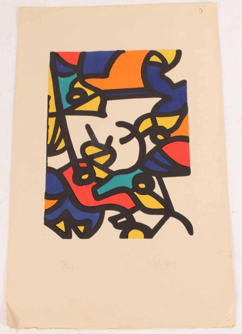 Abstract Lithograph, Charles Lapicque