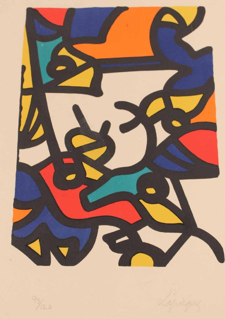 Abstract Lithograph, Charles Lapicque - 4