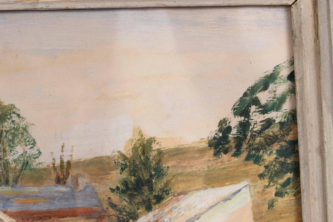 Oil on Board Barnyard, Charles Augustus Mager - 5
