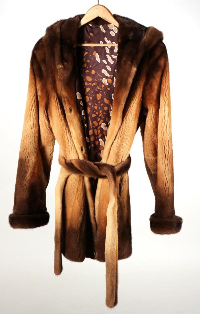 Hooded Sheared Mink Jacket