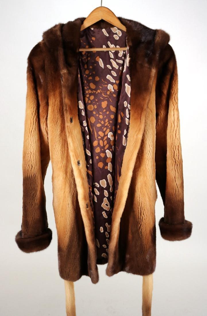 Hooded Sheared Mink Jacket - 2