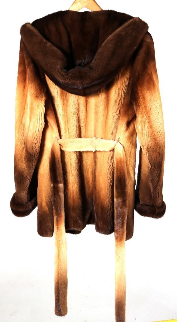 Hooded Sheared Mink Jacket - 5