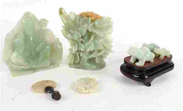 Three Chinese Carved Jade Articles