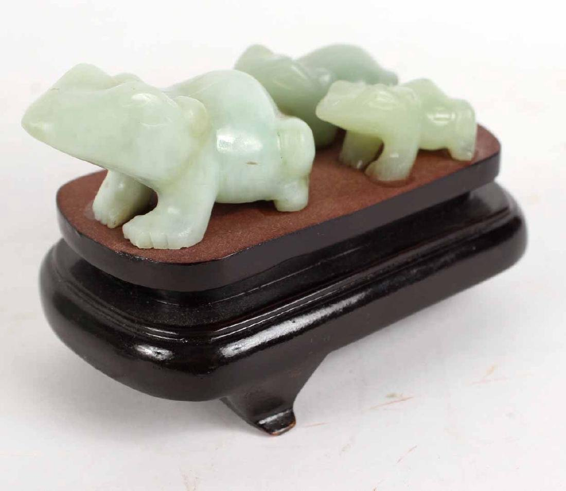 Three Chinese Carved Jade Articles - 2