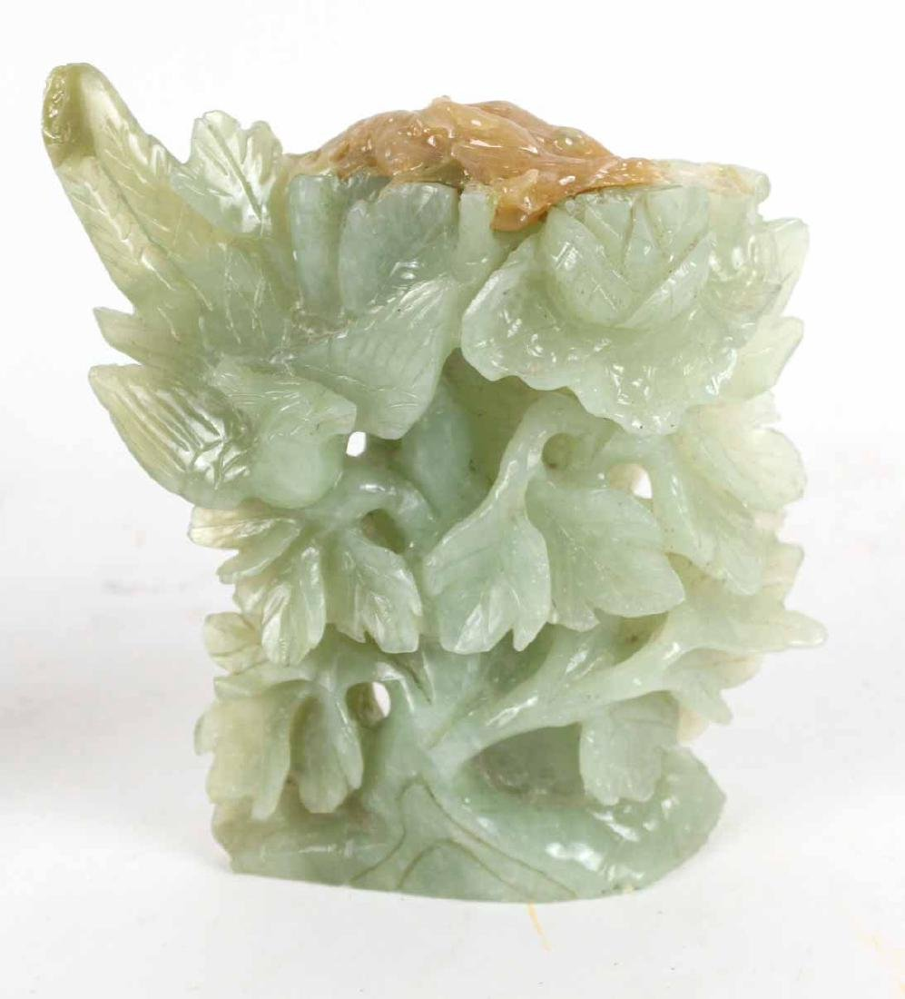 Three Chinese Carved Jade Articles - 7