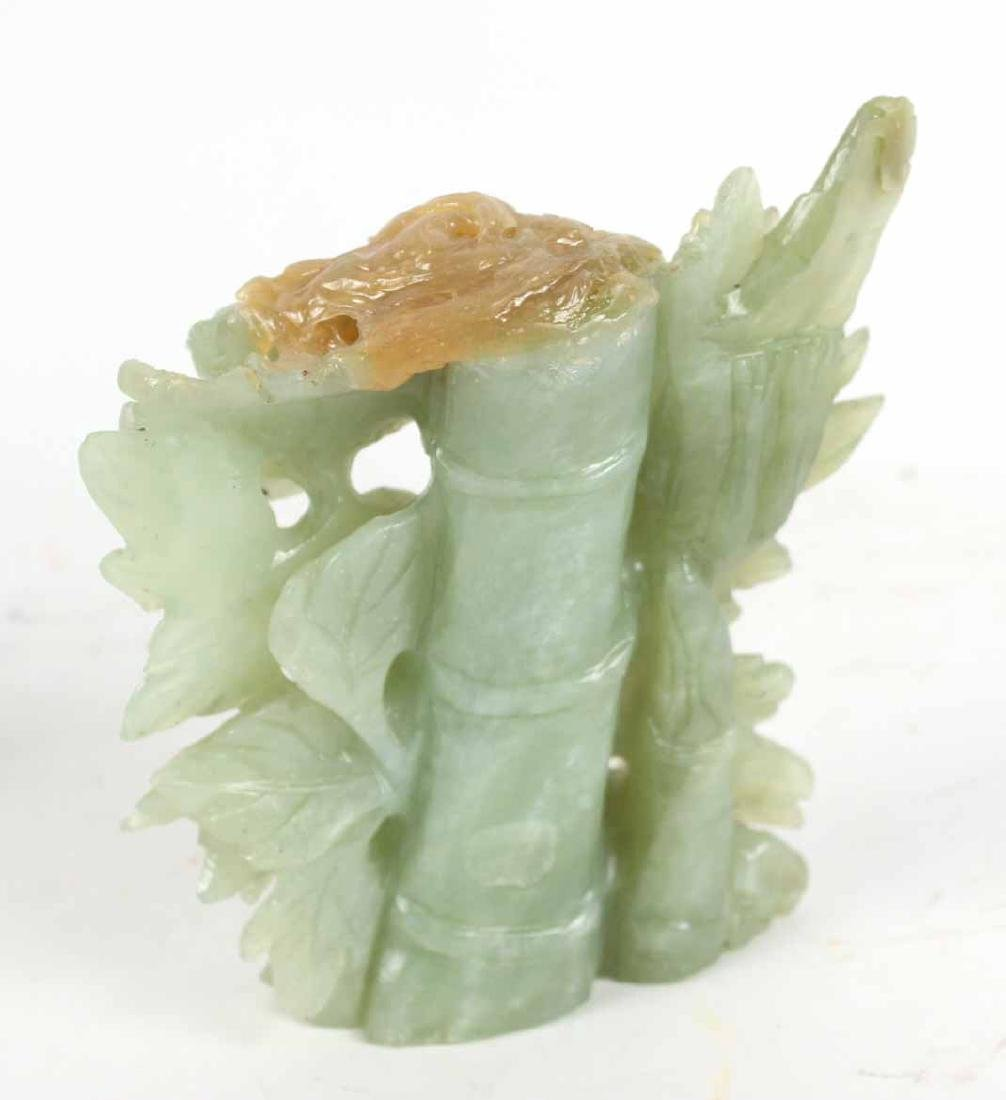 Three Chinese Carved Jade Articles - 8