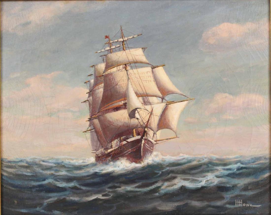 "Oil on Canvas, ""Levi Woodbury,"" Harry Hambro Howe - 2"