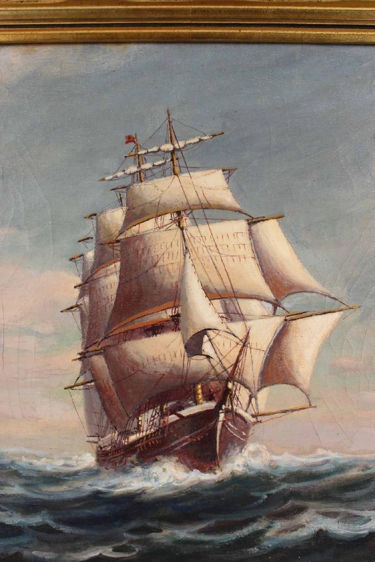 "Oil on Canvas, ""Levi Woodbury,"" Harry Hambro Howe - 6"