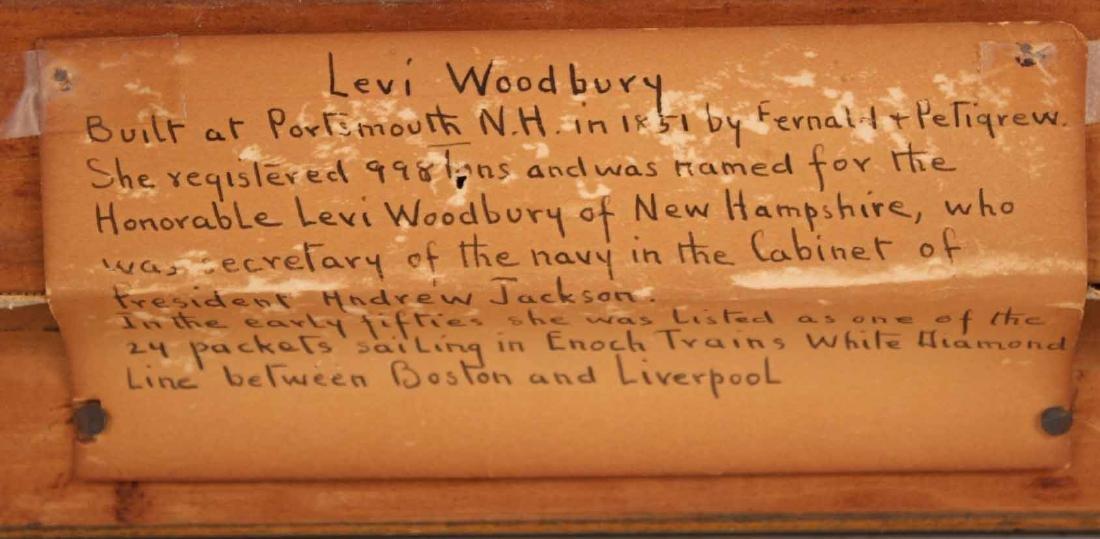 "Oil on Canvas, ""Levi Woodbury,"" Harry Hambro Howe - 9"