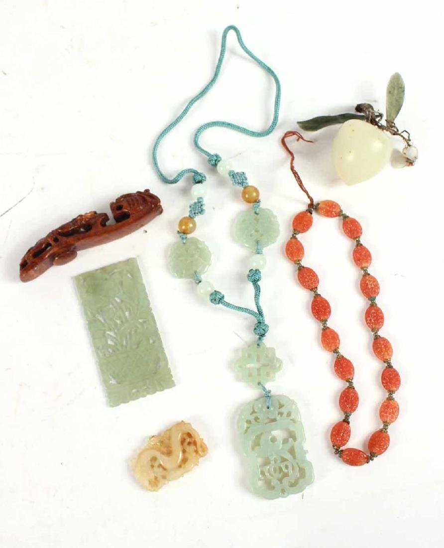Jade Disks on Cord Necklace