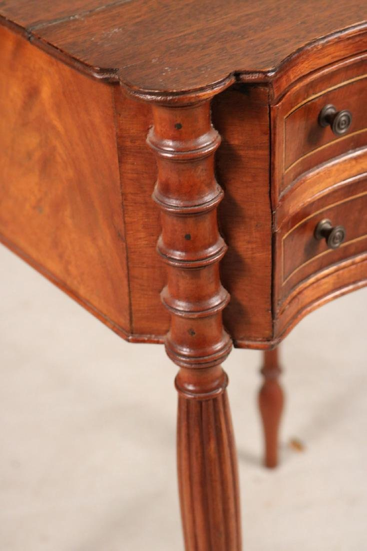 Federal Inlaid Mahogany Two-Drawer Side Table - 3
