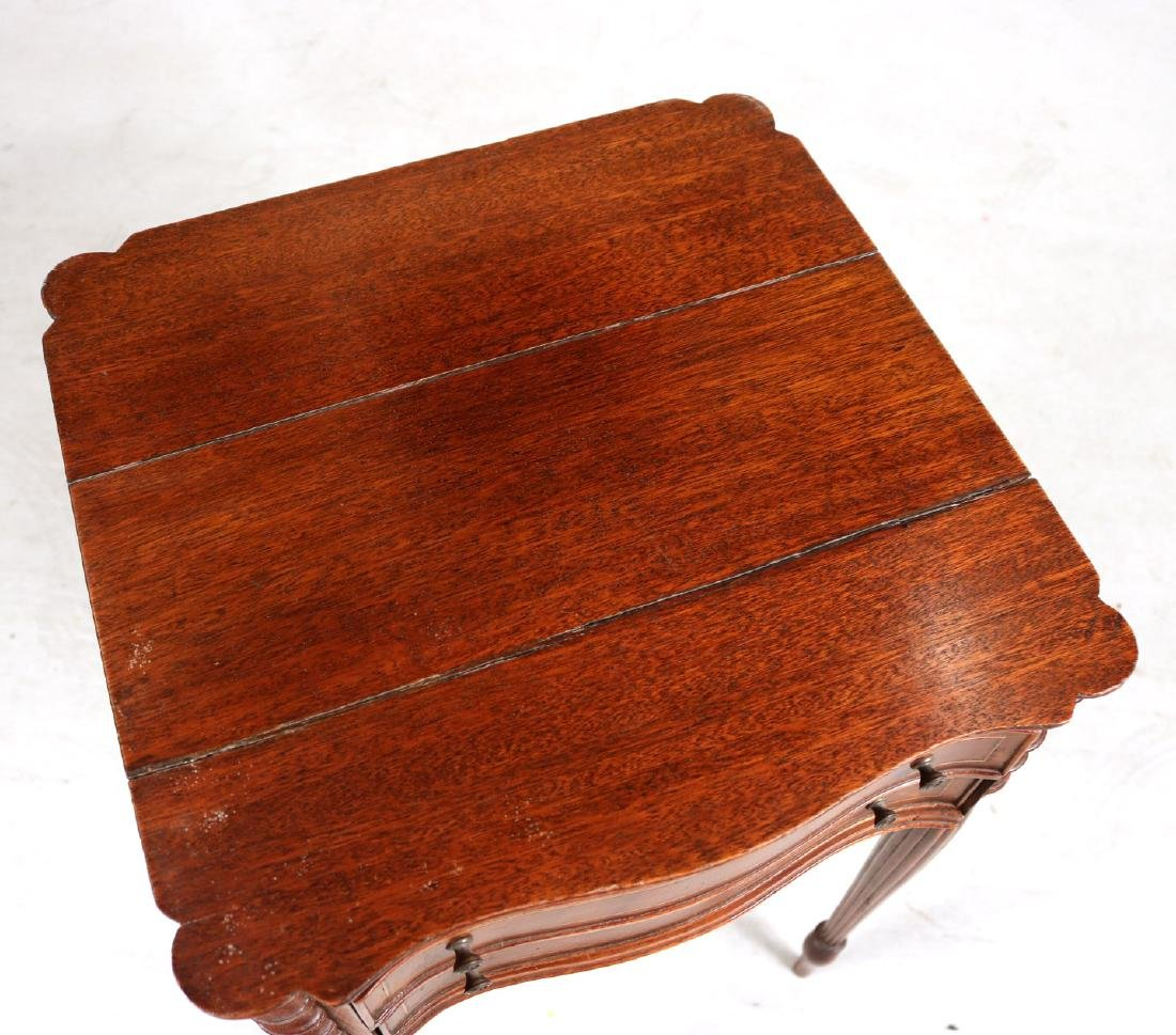 Federal Inlaid Mahogany Two-Drawer Side Table - 7
