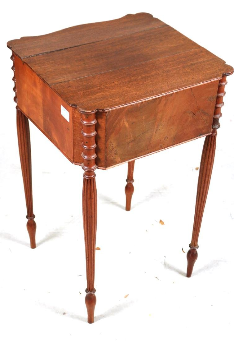 Federal Inlaid Mahogany Two-Drawer Side Table - 8
