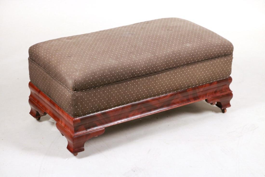 Empire Mahogany Upholstered Window Seat
