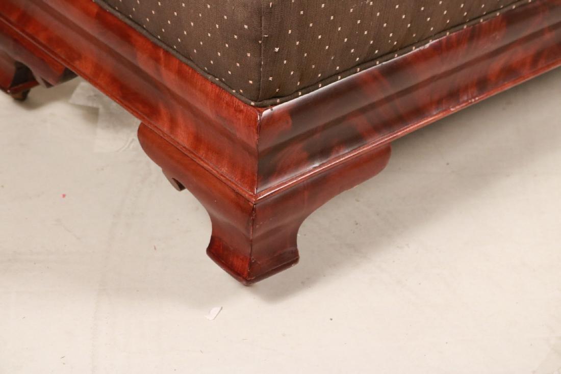 Empire Mahogany Upholstered Window Seat - 2