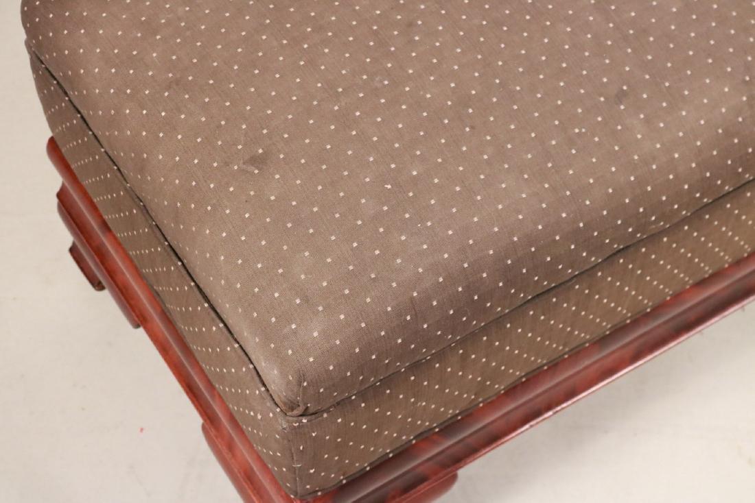 Empire Mahogany Upholstered Window Seat - 4