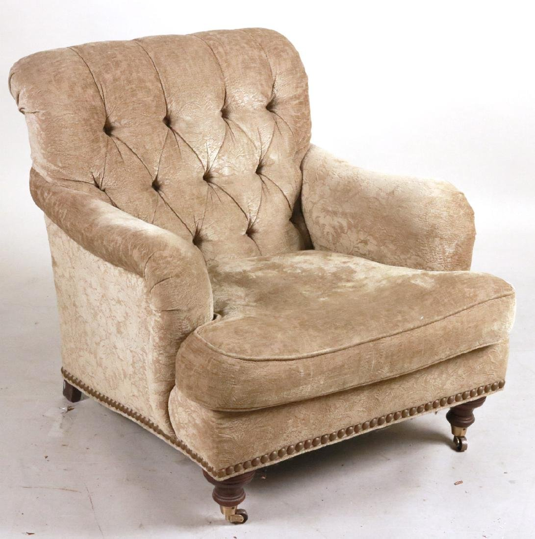 Lillian August Beige-Upholstered Club Chair