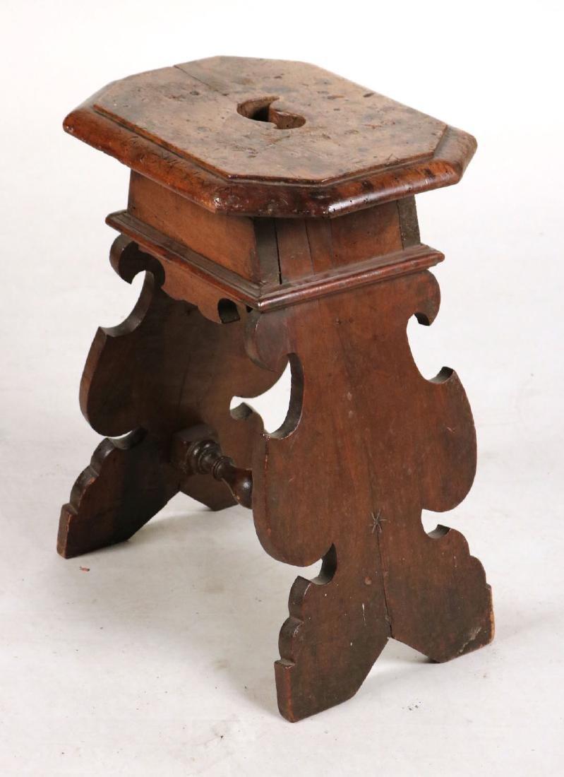Baroque Walnut Wake Stool - 8