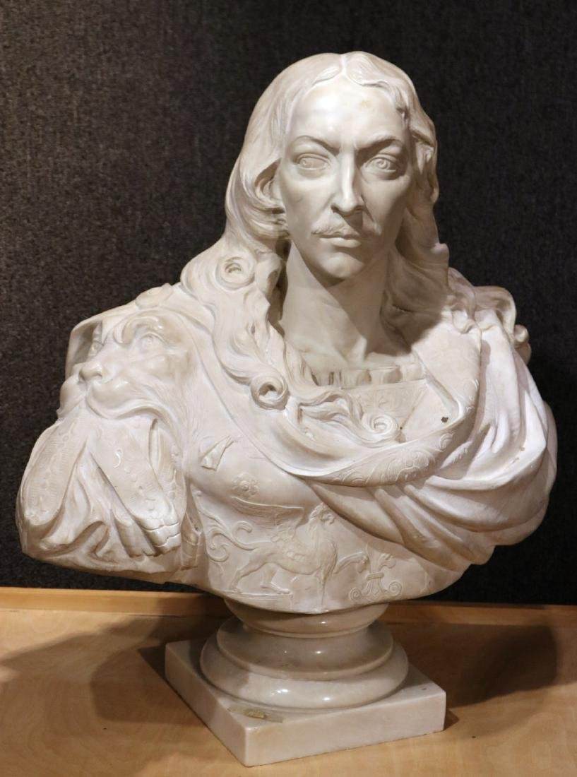 Carved Marble Bust of a Man