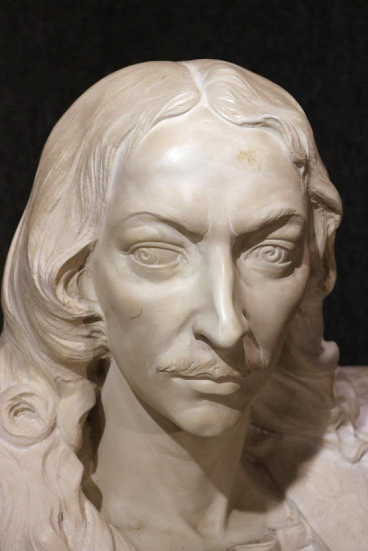 Carved Marble Bust of a Man - 2