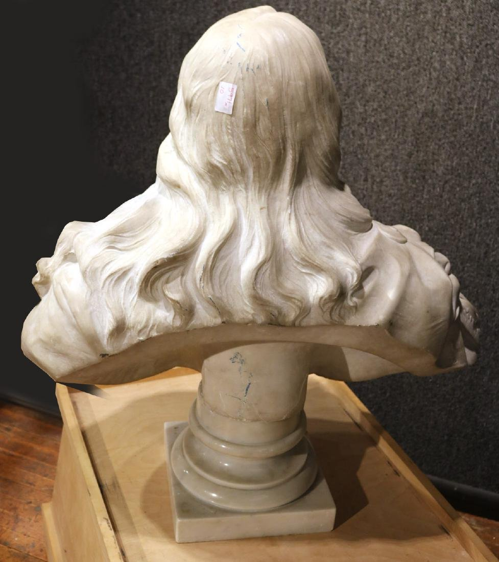 Carved Marble Bust of a Man - 7