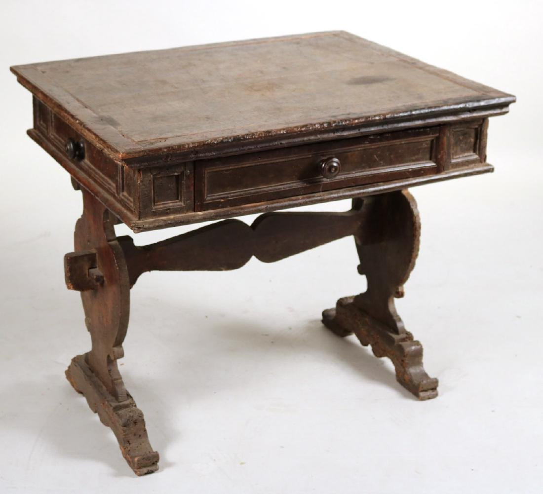 Baroque Carved Walnut One-Drawer Table