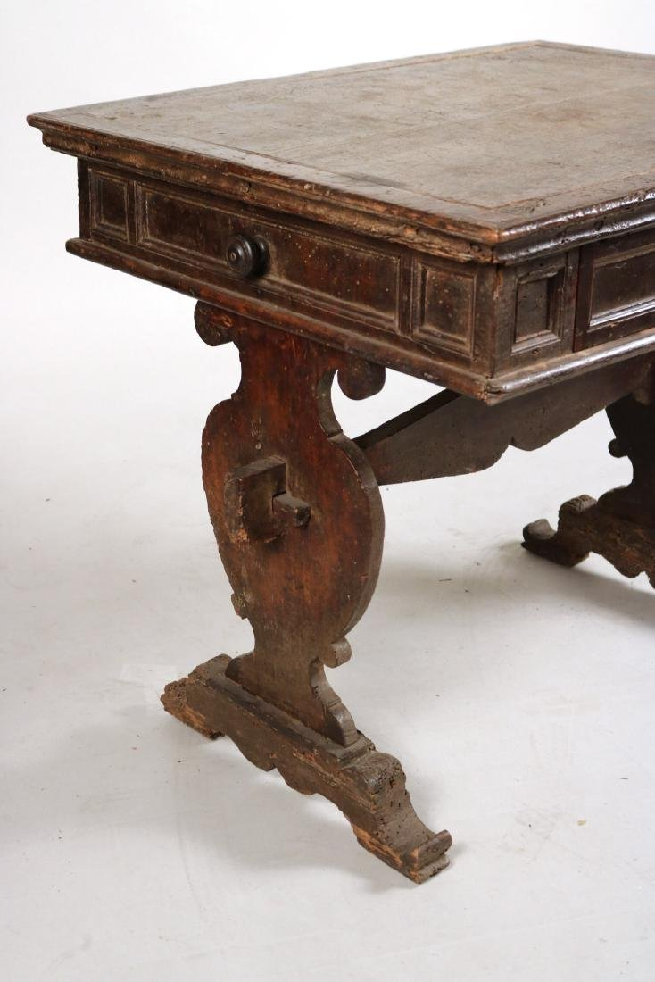 Baroque Carved Walnut One-Drawer Table - 2