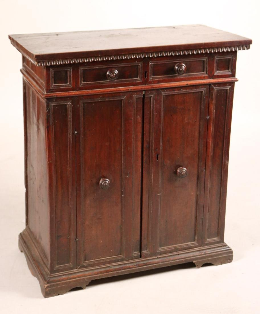 Baroque Style Carved Walnut Lift-Top Cabinet