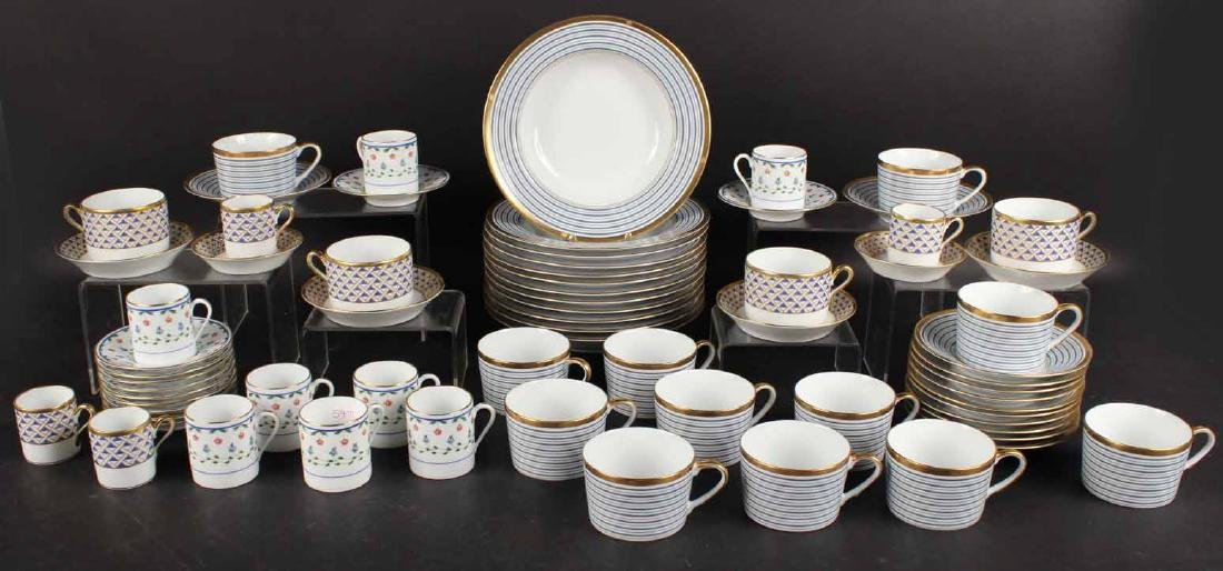 Partial Christian Dior Tropez Blue Dinner Service