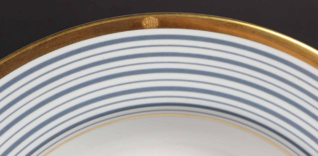 Partial Christian Dior Tropez Blue Dinner Service - 3