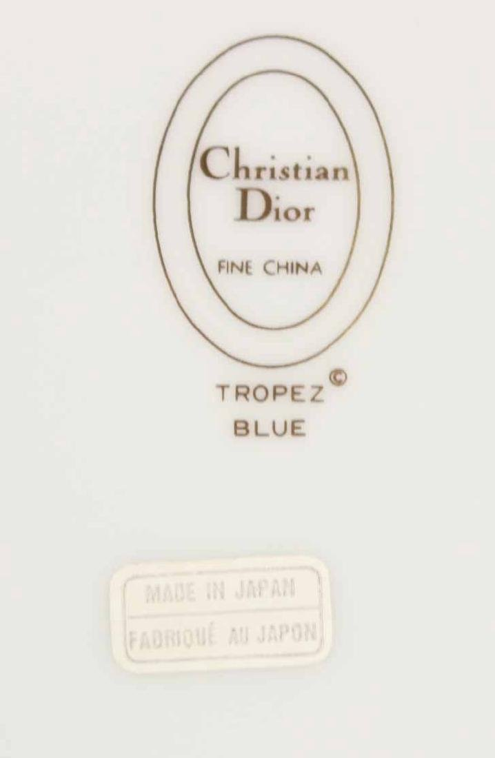 Partial Christian Dior Tropez Blue Dinner Service - 4
