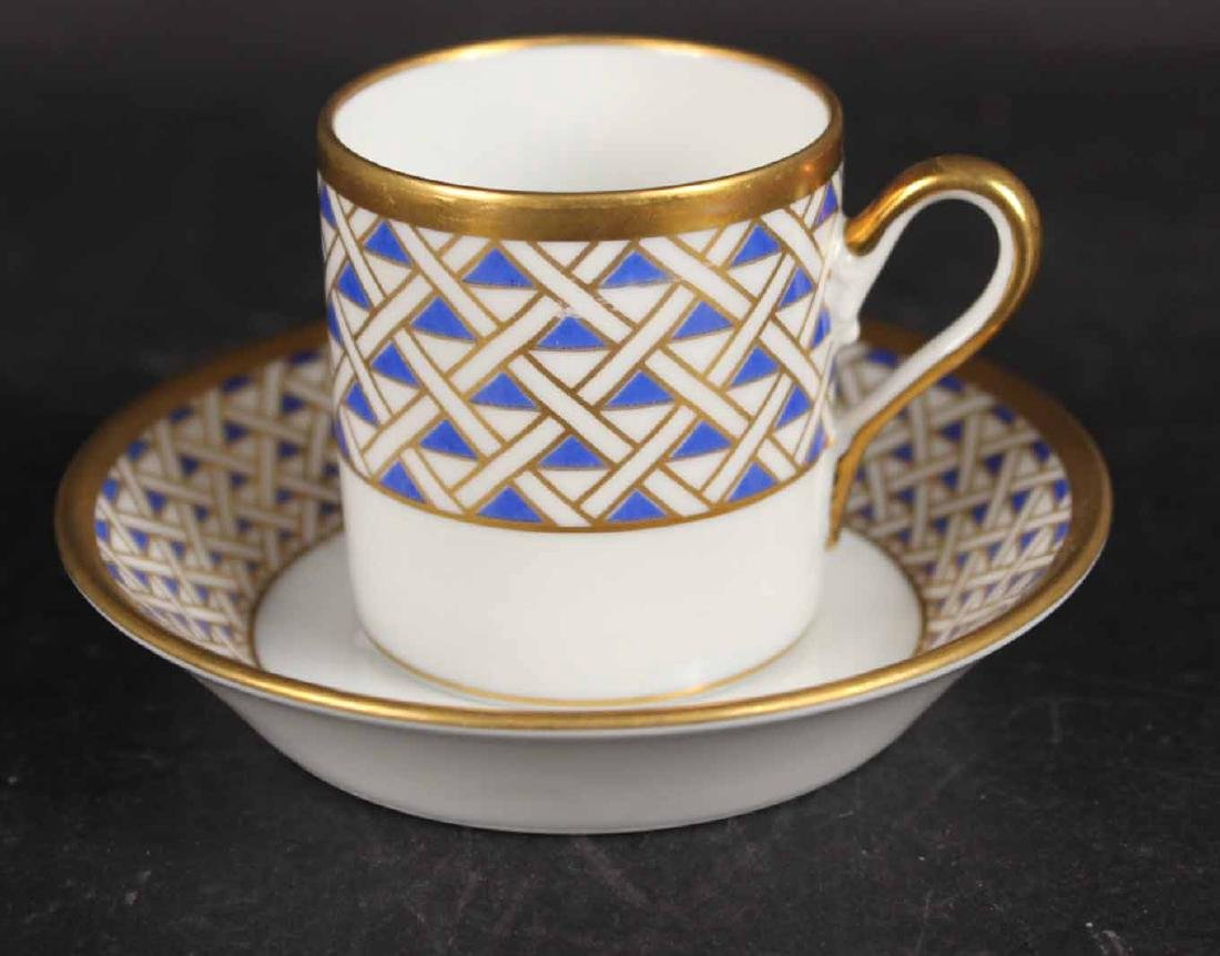 Partial Christian Dior Tropez Blue Dinner Service - 5