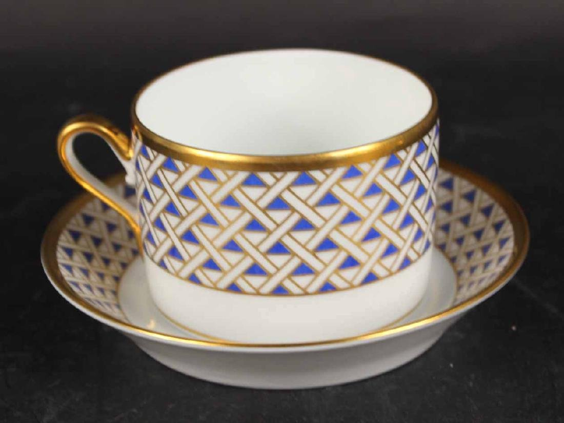 Partial Christian Dior Tropez Blue Dinner Service - 7