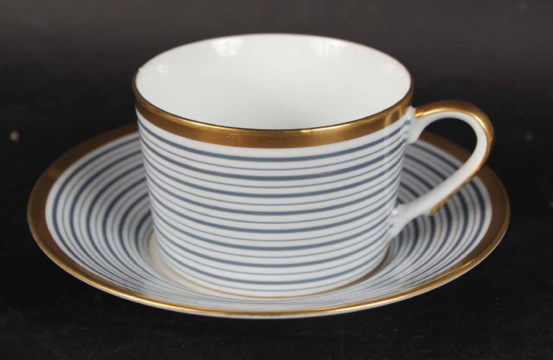 Partial Christian Dior Tropez Blue Dinner Service - 8
