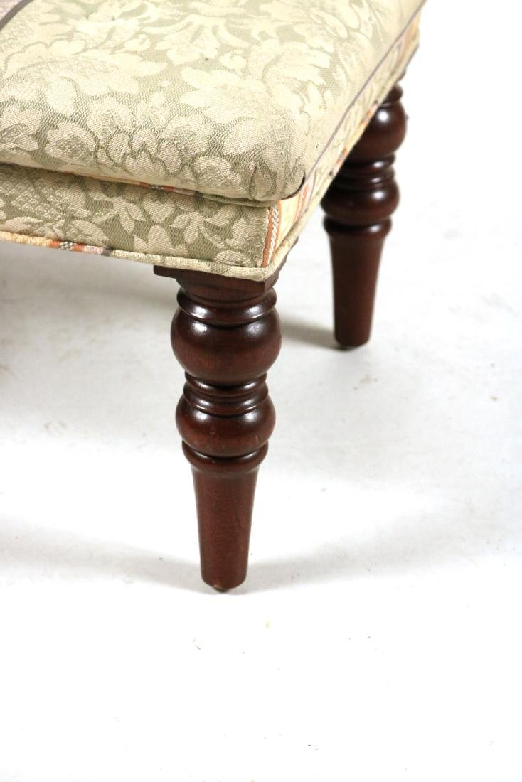 Two Upholstered Mahogany Ottomans - 3