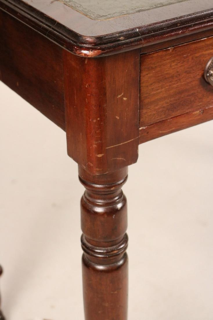 Regency Leather-Inset Mahogany Console Table - 4