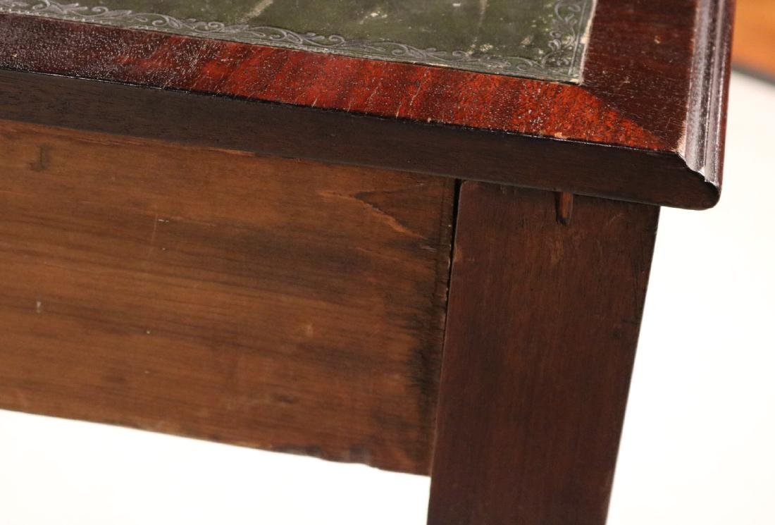 Regency Leather-Inset Mahogany Console Table - 8