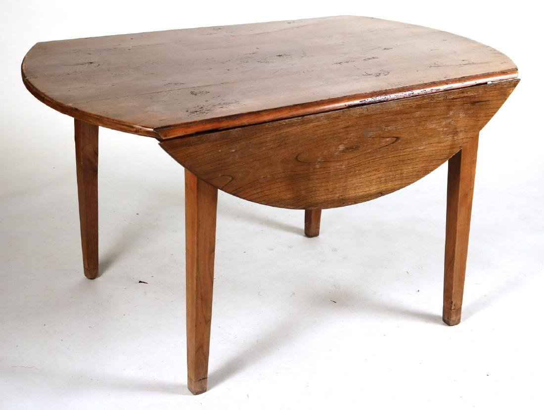 Provincial Style Oak Drop Leaf Dining Table