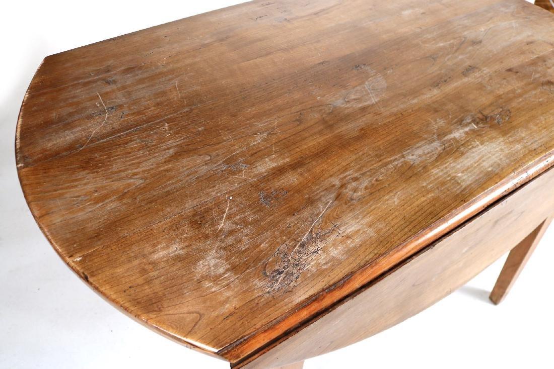 Provincial Style Oak Drop Leaf Dining Table - 2