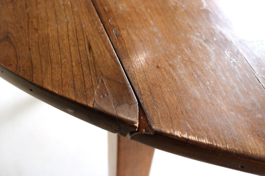 Provincial Style Oak Drop Leaf Dining Table - 8